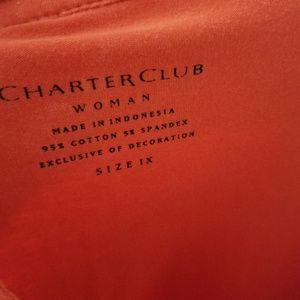 Charter Club Tops - Charter Club Woman Coral Short Sleeve Tee / 1x